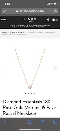 Links of london rose gold necklace King, L4L 7W2