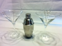 Cocktail time! Ketel One Martini Shaker and 2 large Martini Glasses Reston