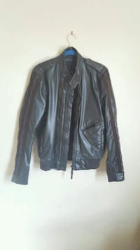 black leather zip-up jacket Frederick, 21703