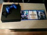 Ps4 storage 408.5 GB,games,remote,cable wires $200 San Diego, 92101