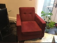 Red suede sofa chair  Toronto, M5M 1G5
