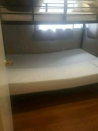 white and black bed frame West Springfield, 22152