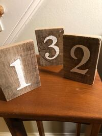 Handcrafted Wooden Rustic Table Numbers Drexel Hill, 19026