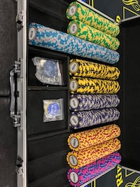 600 Brybelly Monte Carlo Poker Chips 14 grams