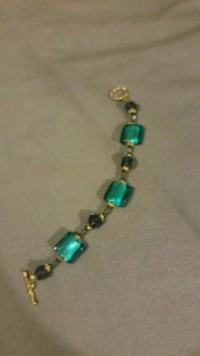gold-colored bracelet with teal gemstones Carencro, 70520