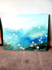Tom Sachade Blue & White Daisies Painting for Sale Milton, L9T 1Z8