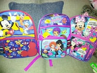 toddler's three assorted-color backpacks Las Vegas, 89110