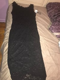 Black tight fitted holiday dress