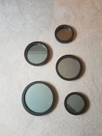 5 round brown framed mirrors Whitby, L1N 6V9