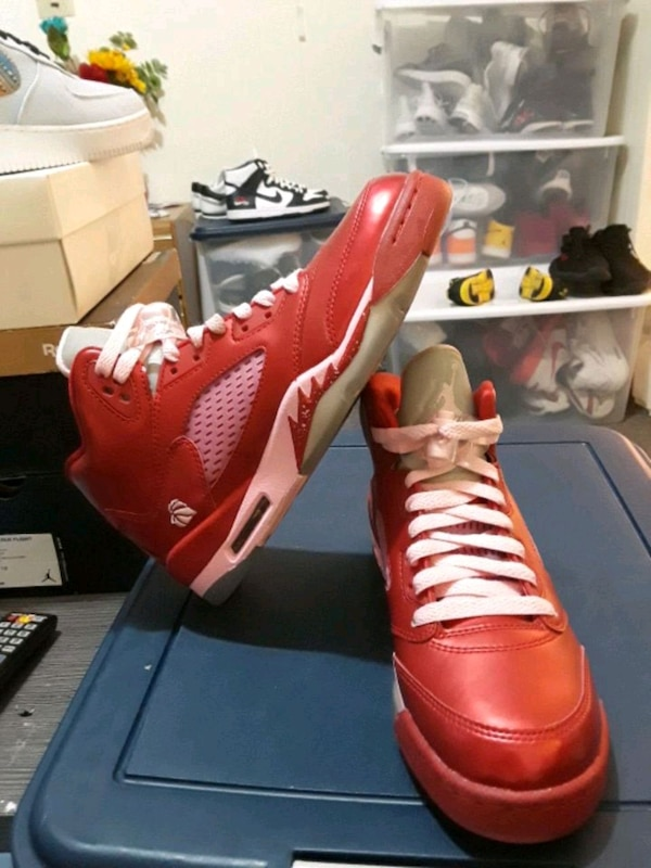 new product 1be31 6473e Jordan 5 retro GS valentines day sz5.5