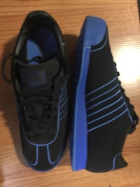 Pair of black-and-blue adidas Greenbrier, 37073