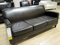 Dark brown leather sofa and loveseat Fairfax, 22033