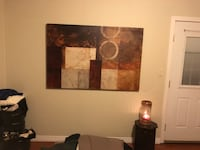 white,black and brown abstract painting
