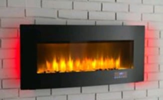 Prokonian Wall Mounted Fireplace  Multicolor