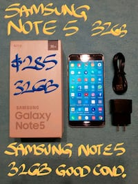 TRADE or Firm $285 SAMSUNG NOTE5 32GB BOX+charger Beaconsfield, H9W 2E1