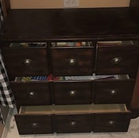 Solid wood chest with drawers