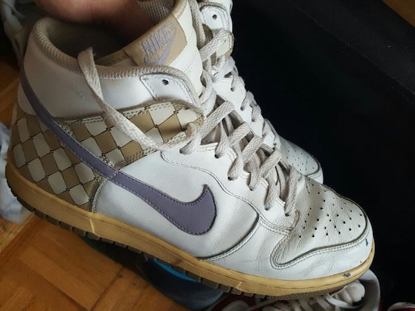 fd643923ec42 Used pair of white-and-purple Nike high top Air Jordan for sale in Toronto  - letgo