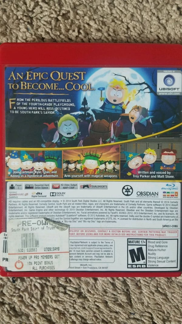 South park the stick of truth for ps3 fdda3b95-2ddc-4391-a830-7f8825b9641d