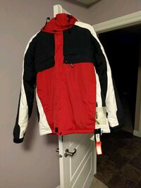 red and black zip-up jacket Saskatoon, S7S 1N1