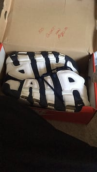 There are in awesome shape . Size 9 1/2 blue with white letters Baltimore, 21234