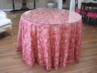 """Tablecloth for 42"""" round table with 30"""" drop. Custom made, fully lined   Pikesville, 21208"""