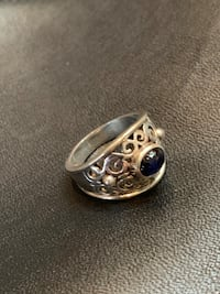 Sterling Silver Dark Blue Sapphire Ring Albuquerque, 87113