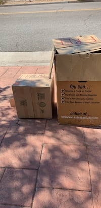 Moving Boxes & paper