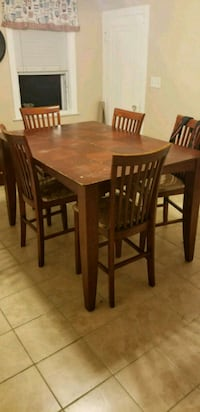 rectangular brown wooden table with six chairs din Providence, 02903