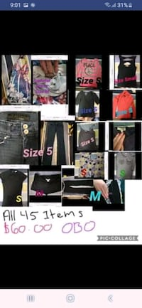 New condition clothing all size small  Calgary, T2S 2Z9