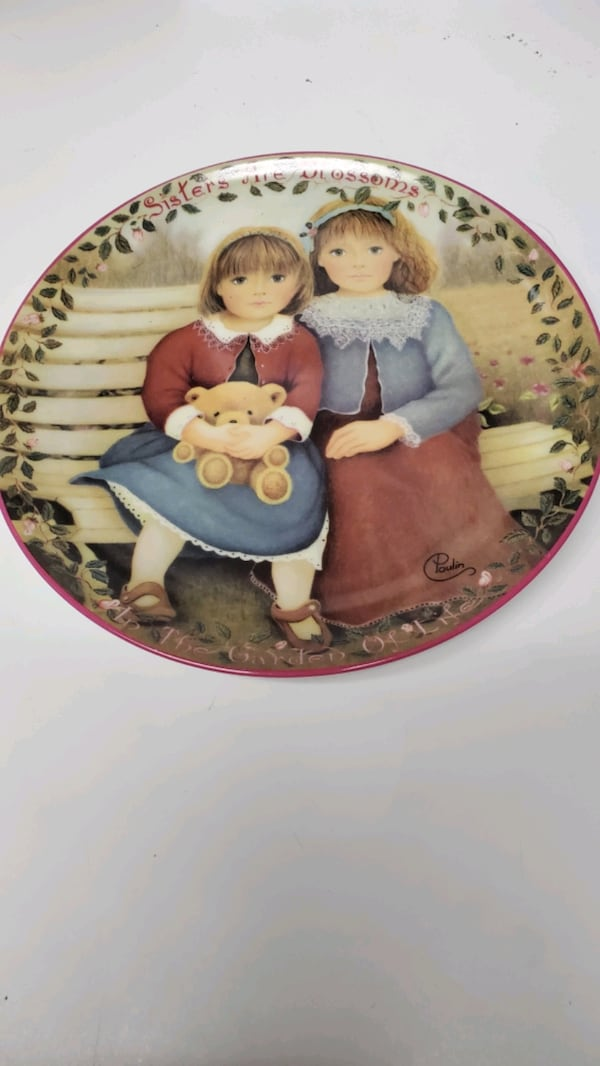"""Sisters are Blossoms"" Plate No. 855K  in the limited edition.  90c6a3fe-062c-4338-bdec-c42f618d7b70"