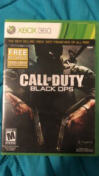 Call of Duty Black Ops Xbox 360 game case