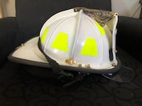 Leather fire helmet - Denver Fire Dept Castle Rock, 80104