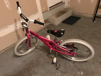 toddler's pink and white bicycle Laurel, 20723