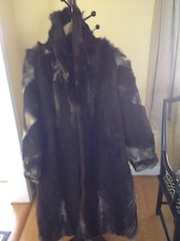 Brown fur long coat Chantilly