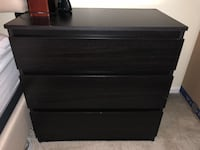 Black wooden 3-drawer chest Germantown, 20874