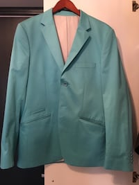 Teal hakk lapel dress jakke Billingstad, 1396