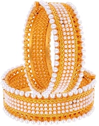 yellow and white beaded necklace Jaipur, 302016