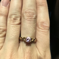 gold amethyst solitaire ring Newburgh, 47630