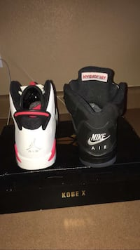 White infrared 6s and black metallic 5s