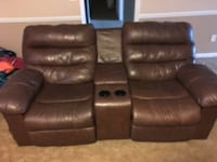 brown leather home theater sofa Jacksonville, 36265