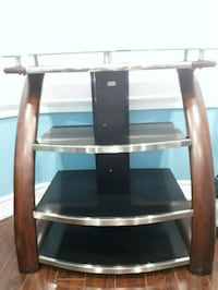 black and brown wooden TV stand Burlington, L7M 0C1