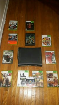 Xbox 360 with 120 hard drive, 11 games, and Headse