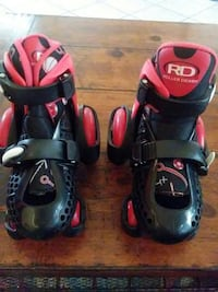 pair of red-and-black Roller Derby roller skates Houston, 77047