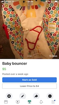 baby's pink and white floral onesie screenshot Knightdale, 27545