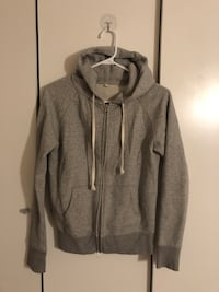 Muji women grey zip hoddies