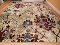 Brand New Modern Red Flower Design Livingroom Carpet  Bethesda