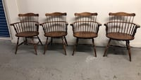 4 sold wood chairs good condition Allentown, 18109