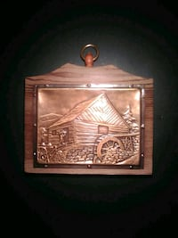 Copper on wood plaque Calgary, T2A 1L3