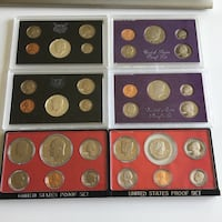 Lot of 6 -1960s/70s/80s Vintage US Mint Coin Proof Sets Calgary, T3C 0X6