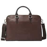 BNWT - Fossil Mercer Leather 14in Laptop Workbag Mississauga